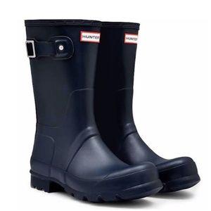 Hunter Rain Boots Short Navy